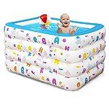 lyy Badewanne Baby Kind Kind aufblasbare Pool übergroße gepolsterte Kinder Pool Familie Spaß Pool einschließlich elektrische Pumpe ( Farbe : A , größe : 100*60*70cm )