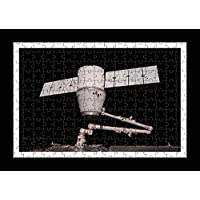 Puzzle Style (pre-assemblata) Wall Print di Spaceship Dragon Iss Space