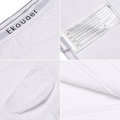 ADOME herren baumwolle Unterwäsche hose Retroshort herren boxershorts 3er pack pants Weiß