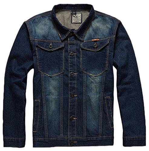 Sawadikaa Herren Klassisch Jacken Jeansjacke Cowboy Jacke Westa Jacket Übergangsjacke Frühlingsjacke Jeans 7800