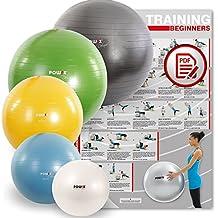 POWRX Gymnastikball Sitzball Anti-Burst inkl. Pumpe und Workout | verschiedene Größen und Farben