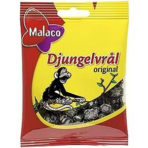 Malaco Djungelvral - Supersalty Réglisse 80G
