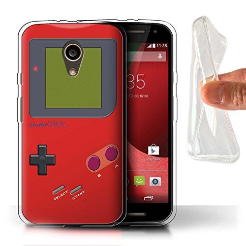 Stuff4® Gel TPU Hülle/Case für Motorola Moto G (2014) / Rot Muster/Videogamer/Gameboy Kollektion - Case Moto G Gameboy Motorola