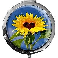 """metALUm - Extragroße Pillendose in runder Form""""Sonnenblume"""" preisvergleich bei billige-tabletten.eu"""
