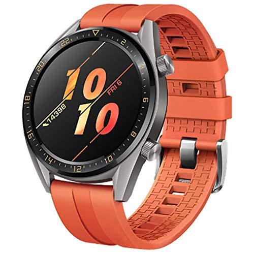 pour Huawei Watch GT Active 46mm Honor Magic Bracelet, Souple Silicone  Adjustable Dragonne Mode Sport Montre Remplacement Bande, pour Huawei Watch  GT