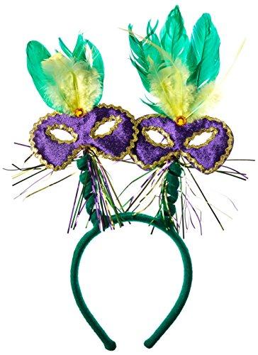 Beistle 60781Mardi Gras Maske mit Federn Haarreif