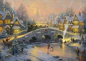 Gibsons Thomas Kinkade Spirit of Christmas  jigsaw puzzle. (1000 pieces)