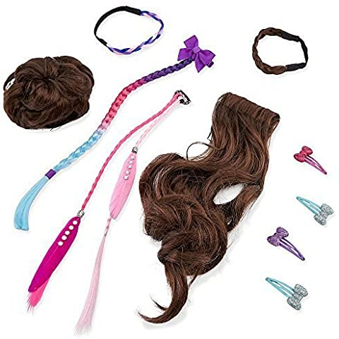 Journey Girls Hair Stylin' Essentials 10 Piece Set- Brunette by Toys R Us - Brunette Girl