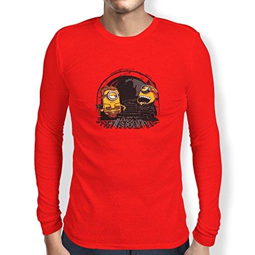 TEXLAB - Banana Twins - Herren Langarm T-Shirt Rot