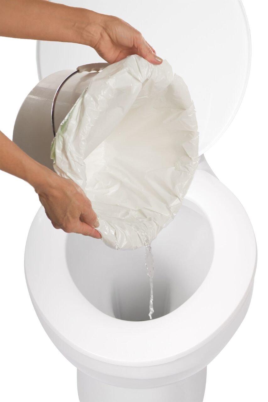 TidyCare Hygienebeutel- Vorteilspackung Einweg-Toilettenstuhlbeutel Toilettenstuhl f/ür Erwachsene universelle Passform 48 Hygienebeutel Beutel f/ür Toiletteneimer
