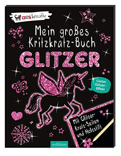 Mein großes Kritzkratz-Buch Glitzer -