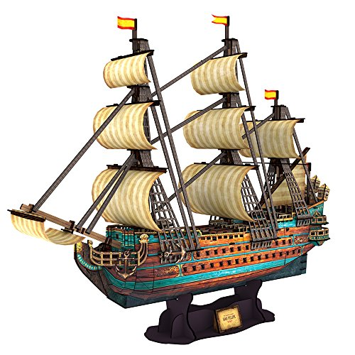 CubicFun 3D Puzzle Schiff Modell Das San Felipe , 248 Teile