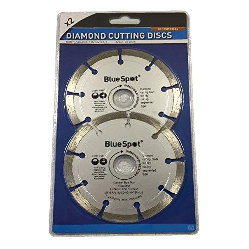 """Preisvergleich Produktbild 2 x 115mm 4.5"""" Disc Diamant-Trennscheiben Winkelschleifer, Stone Brick & Beton"""