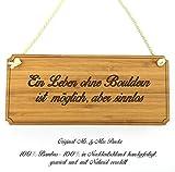 Mr. & Mrs. Panda Türschild Sportart Bouldern Classic Schild - 100% handgefertigt aus Bambus Holz - Anhänger, Geschenk, Vorname, Name, Initialien, Graviert, Gravur, Schlüsselbund, handmade, exklusiv