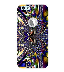 Print Masti Designer Back Case Cover for Apple iPhone 6 (Logo View Window Case) (Peaccock Colour String Butterfly circle)