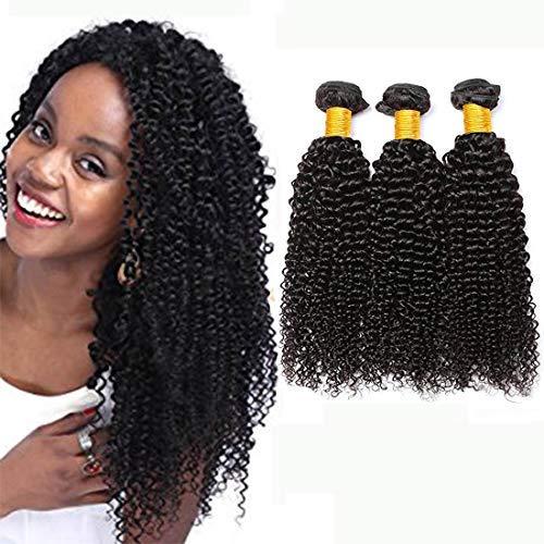 Ladiary brasiliani vergini capelli veri ricci naturali 8a alta qualità 100% capelli umani ricci capelli brasiliani naturali 300g (35cm 40cm 45cm)