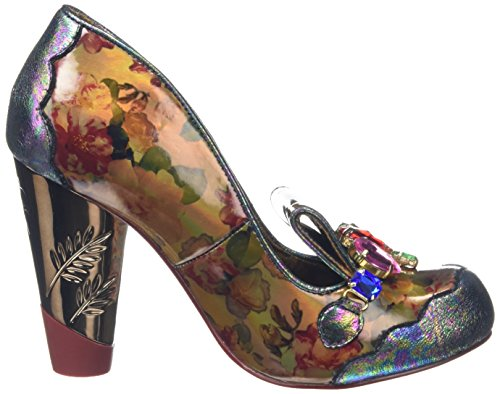 Irregular Choice Ellie Gant, Escarpins femme Marron - Brown (Brown Floral)