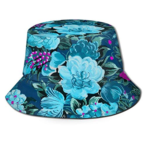 DDOBY Mitte des Jahrhunderts Moderne Blume Cocktail Fidschi auf Lonely Angel Bucket Hat Reversible Fisherman Cap Packable Sommer Sonnenschutzkappe für Frauen Männer -