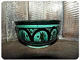 Simandra Orientalische marokkanische Keramikschale Keramik Müsli Obst Salat Schale Schüssel Deko Mini Color Grün