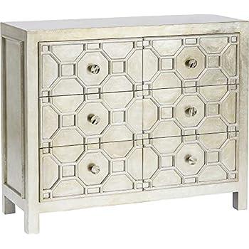 Luxury Handicrafts Chatham Hollywood Regency Silber Gitter