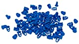 Cora 000116017 Kit 100 Bottoni Fissaggio Targa, Blu