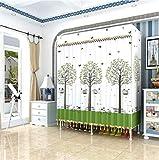 LIUXRONG Tragbare Garderobe - Tuchgarderobe - Einzelnes Kleines Modell Wandschrank-Organisator-Garderobe Tragbare Wandschrankregale - Starker Metallrahmen - Einfache Garderobe,B_110CM*45CM*170CM