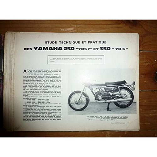 RMT0004 REVUE TECHNIQUE MOTO - YAMAHA 250 YDS7, 350 YR5 - KAWASAKI 500 H1