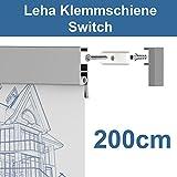 Leha® Klemmschiene, Wandklemmschiene, Klemmleiste Switch silber 200cm Aluminium