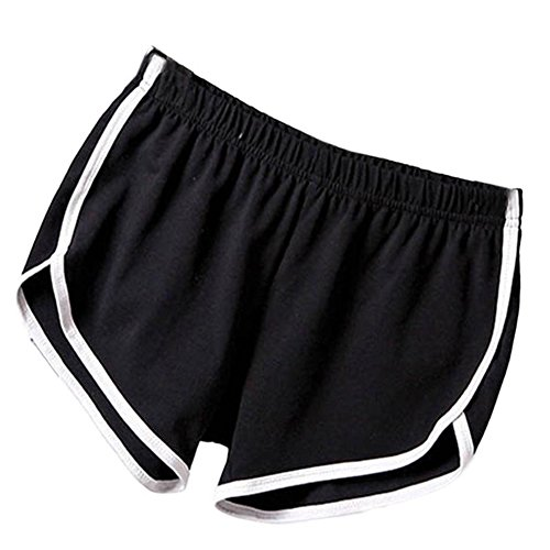EXIU Women Casual Loose Cotton Elastic Waist Yoga Sports Running Short Pants