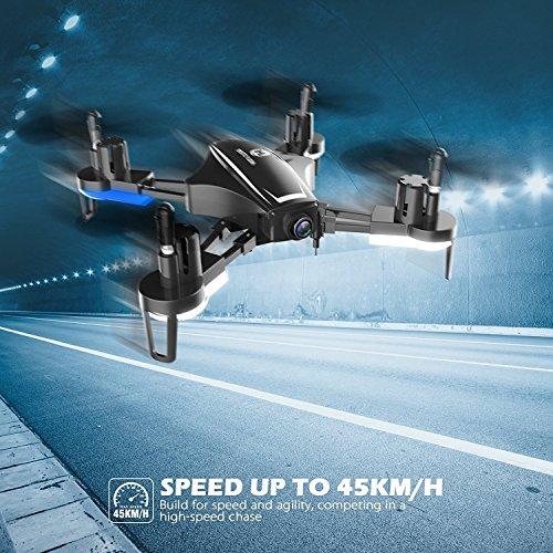 Holy Stone HS230 Drone RC FPV con 120 ° FOV 720P HD Droni Camera Live Video 45Km / h Quadcopter ad Alta velocità di Resistenza al Vento con Schermo LCD 5.8G Trasmettitore in Tempo Reale - 6