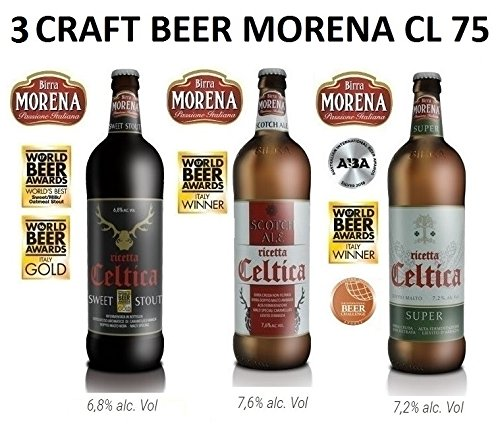 3 x Birra Morena - Craft Beer le Celtiche - Stout - Scotch Ale - Super (3)