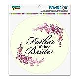 Hochzeit Floral Vater der Braut Automotive Car Kühlschrank Locker Vinyl Kreis Magnet