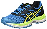 Asics Unisex-Kinder Gel-Cumulus 18 GS Laufschuhe, Blau (Island Blue/Safety Yellow/Black), 33.5 EU