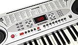 McGrey LK-5430 Clavier à touches lumineuses 54 touches dont 32 éclairées par des LED 100 sonorités 100 rythmes Fonction apprentissage Microphone et pupitre intégrés Bloc d\'alimentation inclus