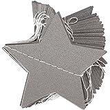 Guirnaldas Decoraciones Colgantes Forma de Estrella para Fiesta Cumpleaños Boda ( Gris )