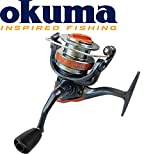 Okuma Aura-40 - Stationärrolle für Hecht, Zander & Forelle, Angelrolle zum Spinnfischen, Hechtrolle zum Spinnangeln, Spinnrolle