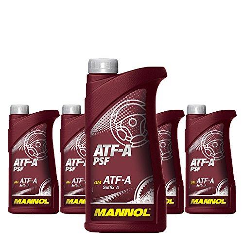 MANNOL 5 x 1L ATF A PSF/Servo- Getriebe- Hydraulik- oel Rot