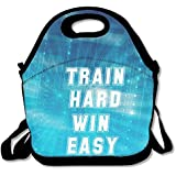 Black Train Hard Win Easy Bayfield Bags For Man And Woman