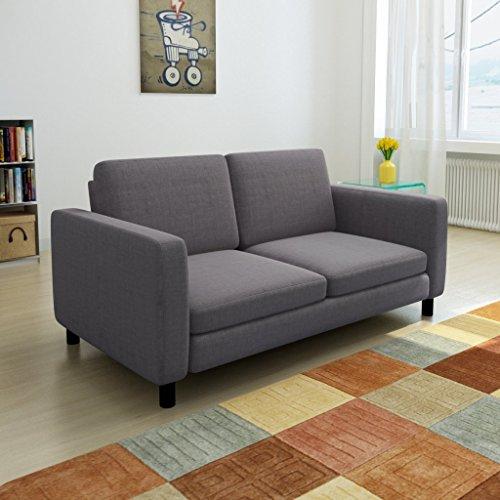 Sofa 2-Sitzer Dunkelgrau - 2