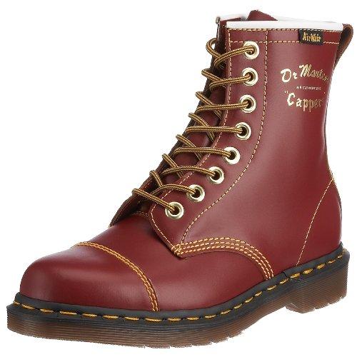 Dr. Martens Capper 13223601, Unisex - Erwachsene Stiefel, Rot (Oxblood), Gr:38 (Stiefel Leder Oxblood)