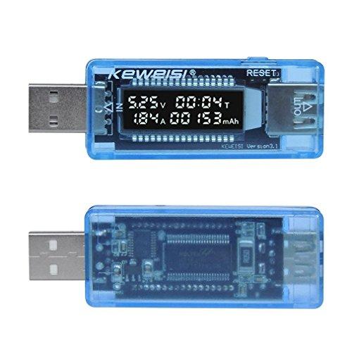 COOWOO USB Tester Digitaler Leistungsmesser Multimeter