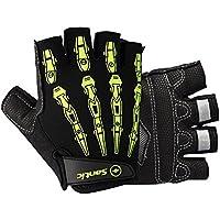 Guanti per ciclismo, guanti da ciclismo, guanti sportivi - Da uomo - colori grigio e nero - S