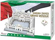 CubicFun 3D Sheikh Zayed Grand Mosque Puzzles Architecture Model Building Kits Toys & Souvenir Gift for Ad