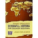 Temario Oposiciones: Geografía e Historia para educación secundaria de Joaquín Riera Ginestar (21 dic 2010) Tapa blanda
