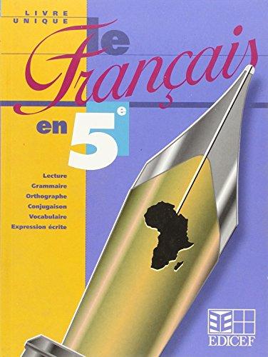 Le Français en 5e - Livre Unique