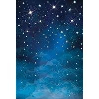 Konpon 150x 220cm algodón poliéster fondo para estudio de fotografía noche cielo estrellas máquina. Estudios de fotografía recién nacidos bebé Props boda fondo Drop kp-382