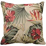 YaYa cafe Printed Antique Floral Flower Throw Cushions Pillow Covers 20x20 inches for Home Decor Sofa Chair Bedroom Living Room