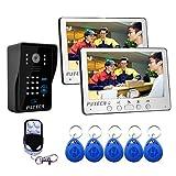 PUTECA 7 Zoll draht video türsprechanlage türklingel intercom system nachtsicht kamera fernbedienung RFID karte passwort tastatur entsperren 1 v 2