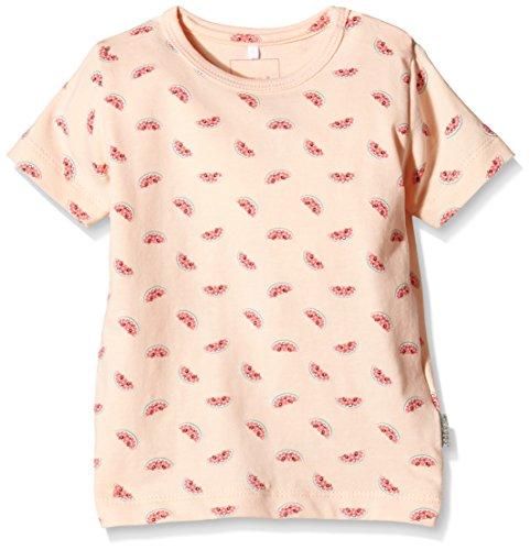NAME IT Baby - Mädchen T-Shirt Yummi NB CU SS 215, Gr. 74 (Herstellergröße: 6-9 Months), Rosa (Tropical Peach)