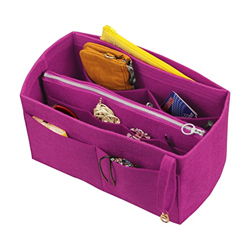 Taschen, L.V. Her.MES Long.Champ Go.Yard] Filz Tote Organizer (w/abnehmbare Reißverschluss-Tasche), Geldbörse einfügen, Kosmetik-Make-up-Windel-Handtasche, Taschen ()